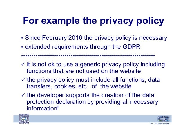Generic Privacy Policy >> 2019 Certifuncation Gdpr 12072019 Typo3