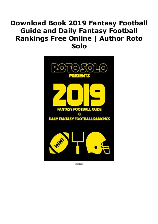 Download Book 2019 Fantasy Football Guide and Daily Fantasy
