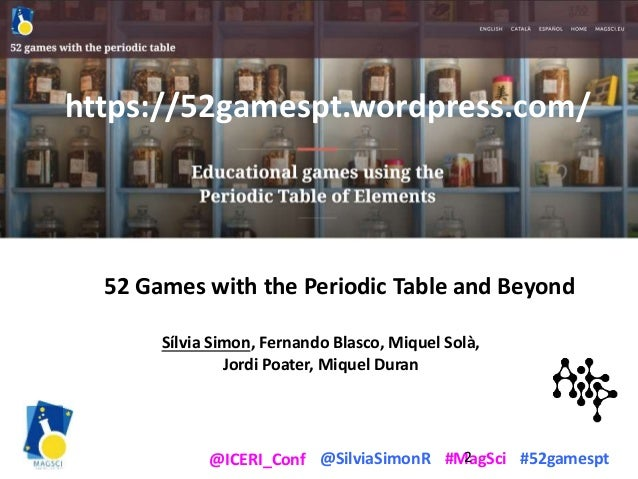 52 Games with the Periodic Table of the Elements - and beyond Slide 2