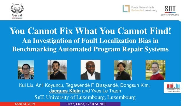 You Cannot Fix What You Cannot Find! An Investigation of Fault Localization Bias in Benchmarking Automated Program Repair ...