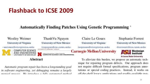 Flashback to ICSE 2009 3