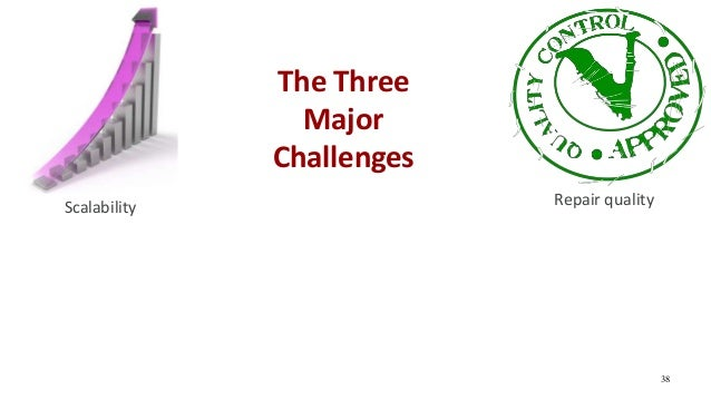 38 Scalability Repair quality The Three Major Challenges