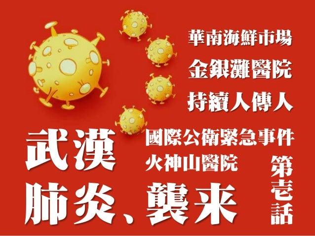 武漢 肺炎、襲来 華南海鮮市場 金銀灘醫院 持續人傳人 國際公衛緊急事件 火神山醫院 第 壱 話