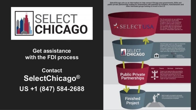 Get assistance with the FDI process Contact SelectChicago® US +1 (847) 584-2688