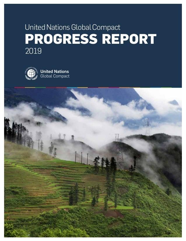 UnitedNationsGlobalCompact PROGRESS REPORT 2019