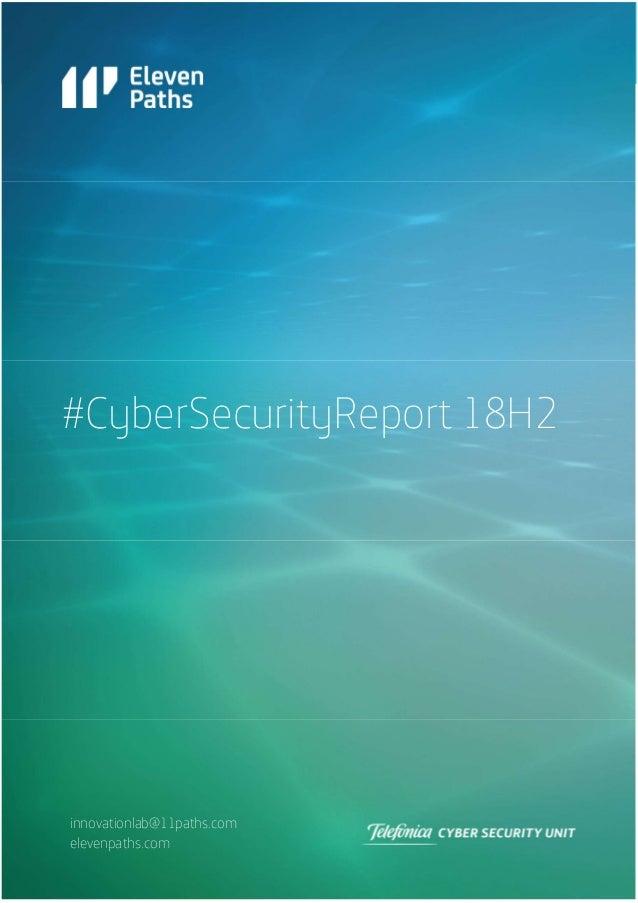 ElevenPaths #Cybersecurityreport18H2 (ENG)