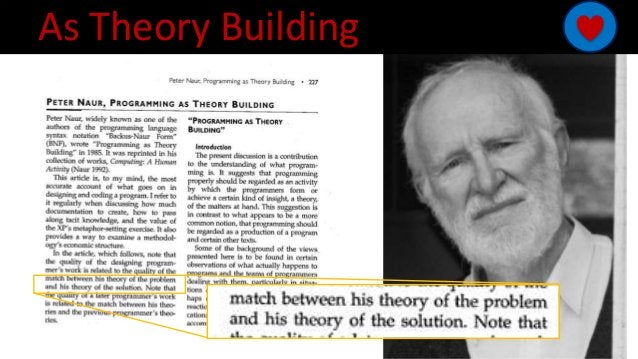 As Theory Building