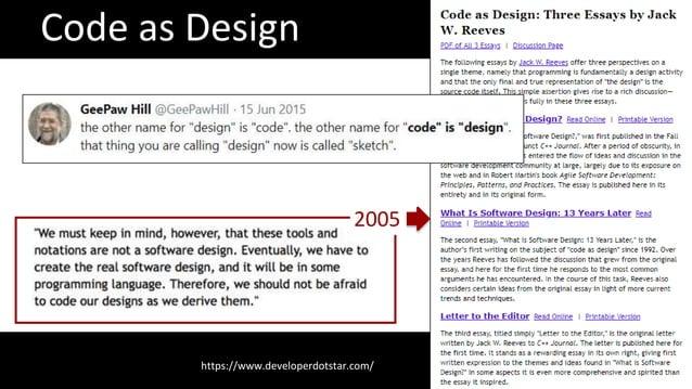 Code as Design https://www.developerdotstar.com/ 2005