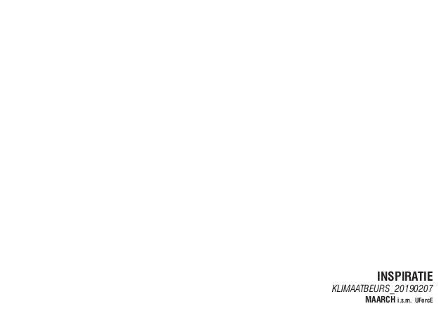 INSPIRATIE KLIMAATBEURS_20190207 MAARCH i.s.m. UForcE