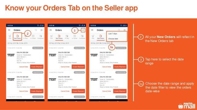 Seller app - Orders