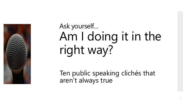 Improving your public speaking skills! Slide 3