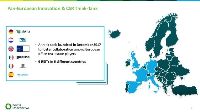 Pan-European Innovation & CSR Think-Tank 2 ▪ A think-tank launched in December 2017 to foster collaboration among European...