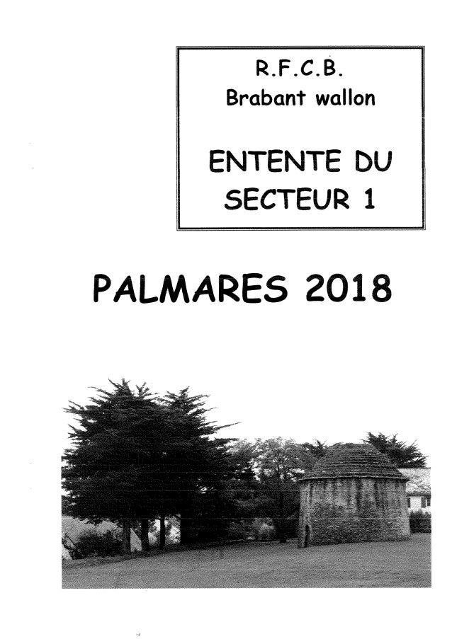"""championnat honorifique de """"l'Entente du Secteur 1"""" du Brabant-Wallon pour la grande vitesse en 2018"""