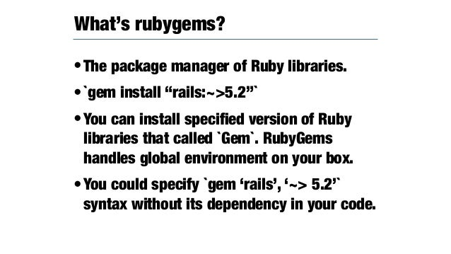 RubyGems 3 5.