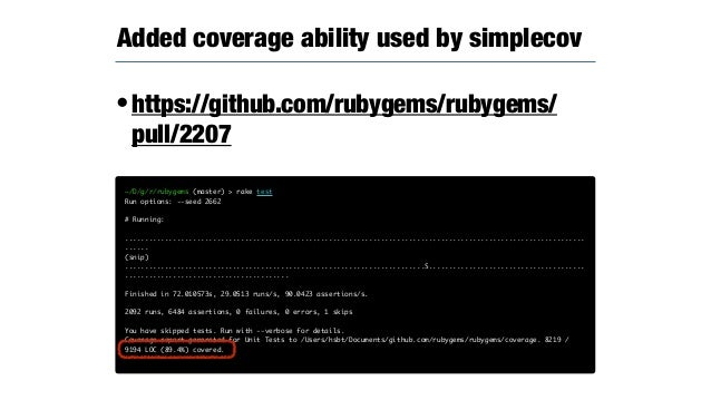 •Removed deprecated methods. •Removed to support for < Ruby 2.2. •Removed Syck support. •Added warnings of deprecated meth...