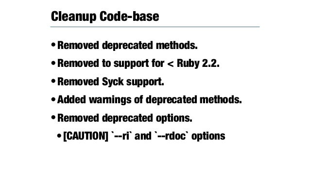 •It has non-compatible features. • Make enable as default for conservative option: https://github.com/rubygems/rubygems/pu...