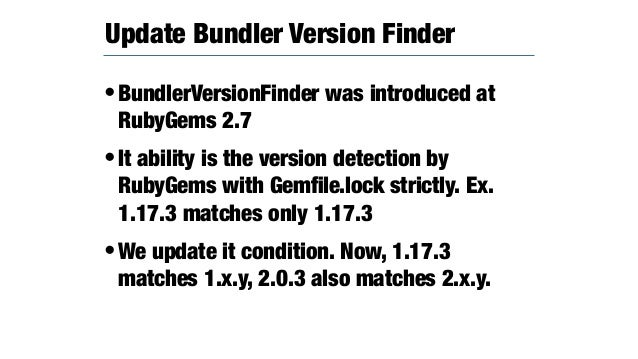 •Rubygems 4 will install the all gems to under the `~/.gem` •Pros: Ruby in linux distribution has many of FAQ for gem inst...