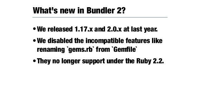 •RubyGems and Bundler stored the duplicated certificates in your box. Duplicates the certificates ~/D/g/r/rubygems (master) ...
