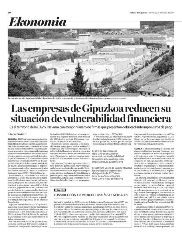 Vulnerabilidad Financiera de las Empresas de Gipuzkoa