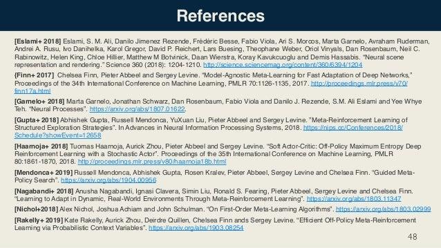 References [Eslami+ 2018] Eslami, S. M. Ali, Danilo Jimenez Rezende, Frédéric Besse, Fabio Viola, Ari S. Morcos, Marta Gar...