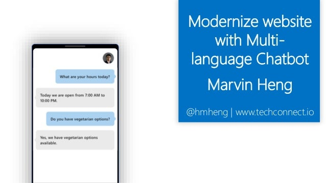 AI] Multi-lingual Chatbot by Marvin Heng