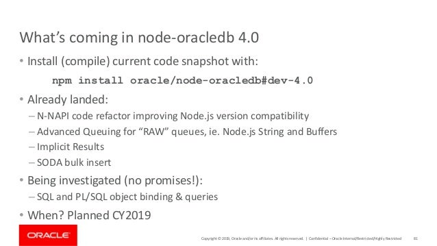 Node js and Oracle Database: New Development Techniques