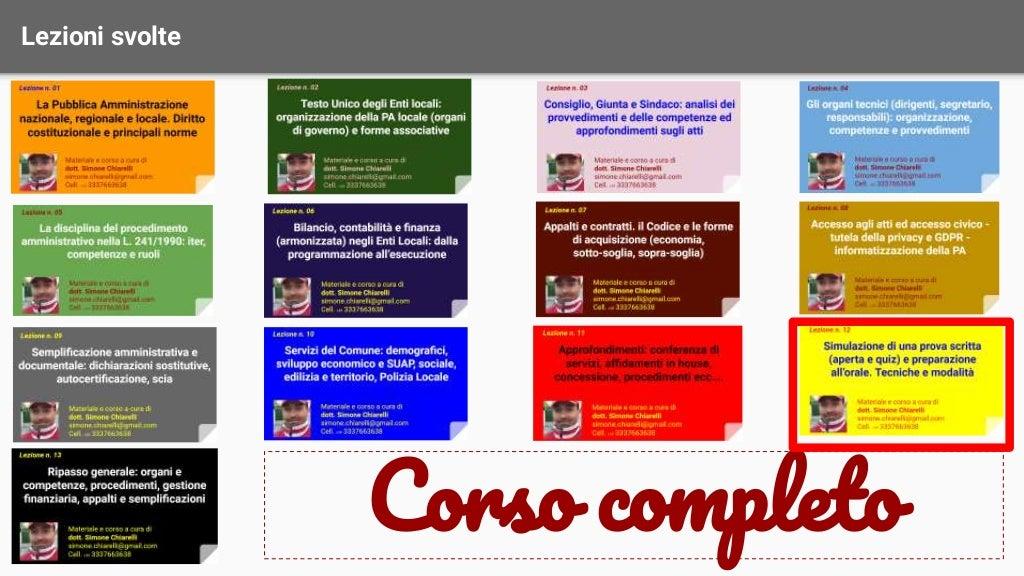 Corso di preparazione ai concorsi - Lezione 12 di 13 page 2