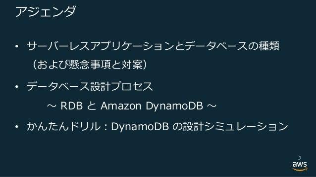 【旧版・説明欄参照ください】 サーバーレスアプリケーション向きの DB 設計ベストプラクティス Slide 3