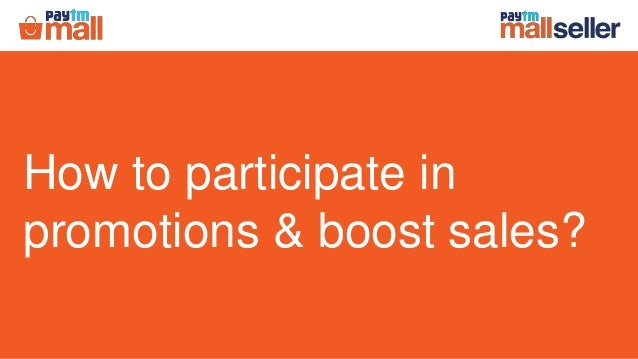 How to participate in promotions & boost sales?