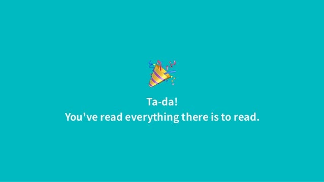 🎉 Ta-da! You've read everything there is to read.