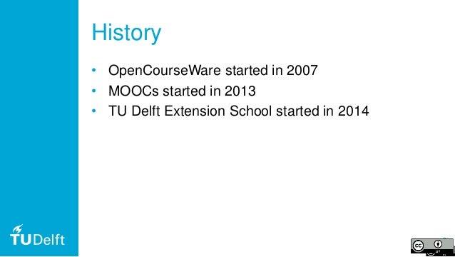TU Delft Open & Online Education for SEFI PTEE2019 Slide 3