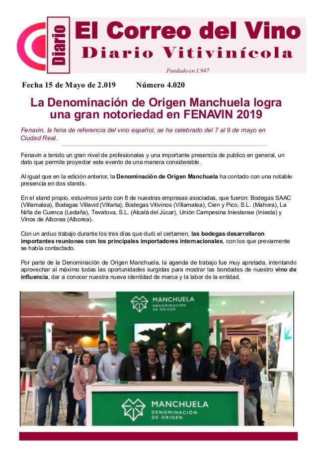 La Denominación de Origen Manchuela logra una gran notoriedad en FENAVIN 2019 Fenavin, la feria de referencia del vino esp...