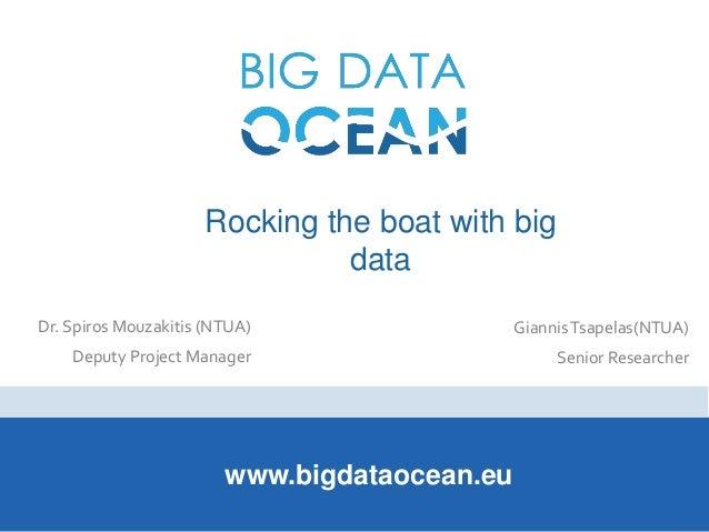 Rocking the boat with big data www.bigdataocean.eu Dr. Spiros Mouzakitis (NTUA) Deputy Project Manager GiannisTsapelas(NTU...