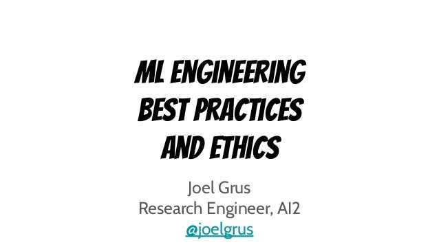Rsqrd AI: ML Engineering Best Practices and Ethics Slide 2