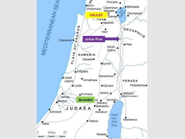 GALILEE Jerusalem Jordan River