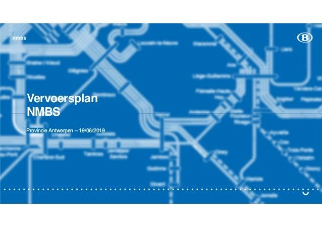 nmbs Vervoersplan NMBS Provincie Antwerpen – 19/06/2019
