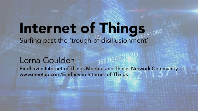 Surfing past the 'trough of disillusionment' Lorna Goulden Eindhoven Internet of Things Meetup and Things Network Communit...