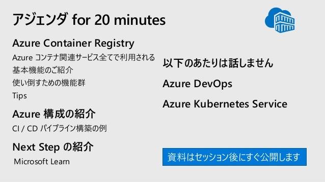 20190626 Get Started Azure Container Registry Slide 3