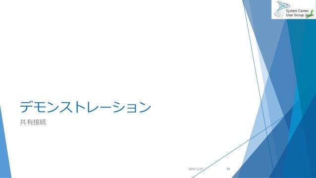 デモンストレーション 共有接続 2019/6/29 15