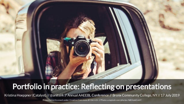 Kristina Hoeppner (Catalyst) // @anitsirk // Annual AAEEBL Conference // Bronx Community College, NY // 17 July 2019 Prese...