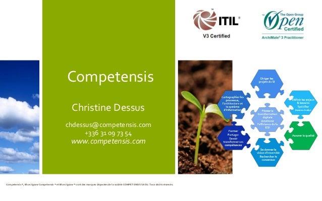 Competensis Christine Dessus chdessus@competensis.com +336 31 09 73 54 www.competensis.com Competensis ®, Blue Jigsaw Comp...