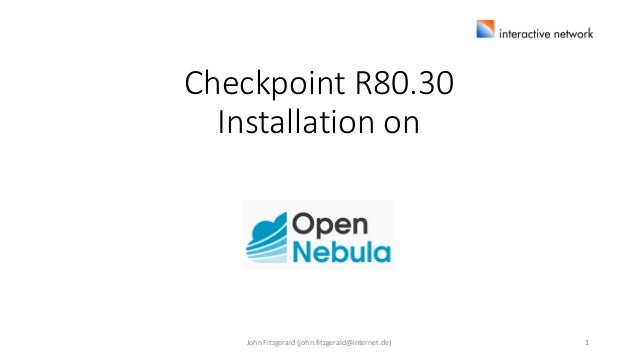 CheckPoint R80 30 Installation on OpenNebula