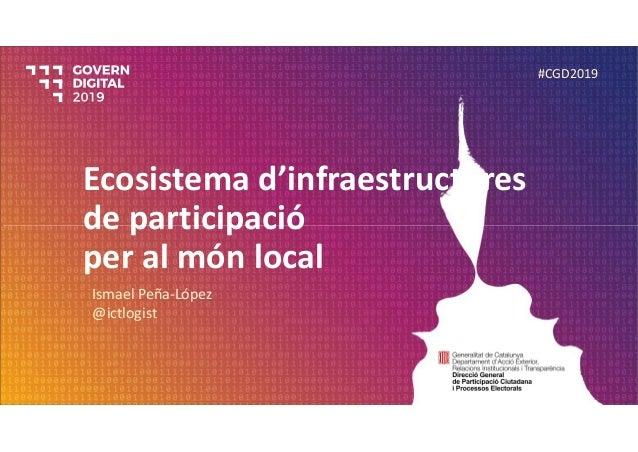 Ecosistemad'infraestructures departicipació peralmón local IsmaelPeña‐López @ictlogist #CGD2019