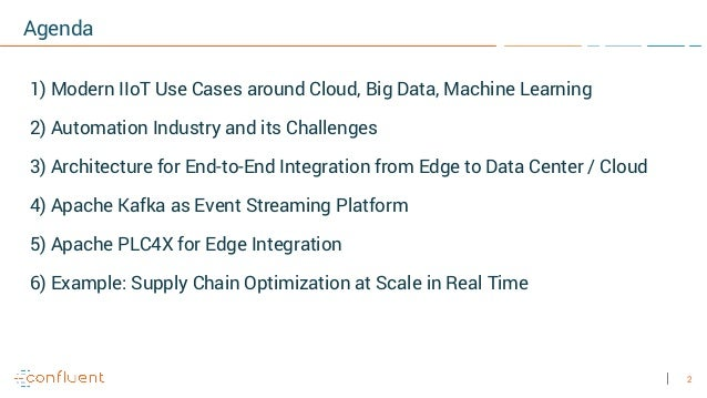 2 Agenda 1) Modern IIoT Use Cases around Cloud, Big Data, Machine Learning 2) Automation Industry and its Challenges 3) Ar...