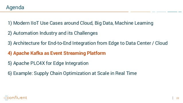 22 Agenda 1) Modern IIoT Use Cases around Cloud, Big Data, Machine Learning 2) Automation Industry and its Challenges 3) A...