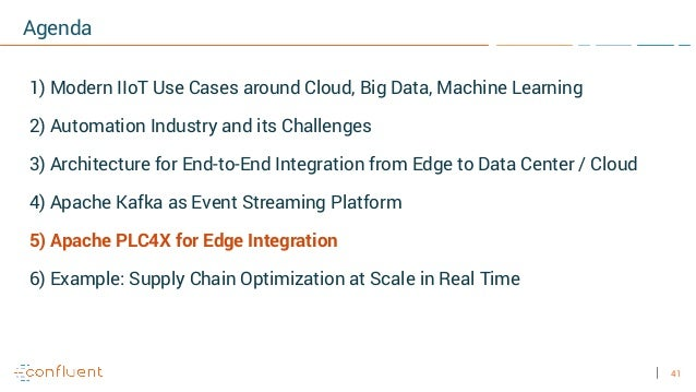 41 Agenda 1) Modern IIoT Use Cases around Cloud, Big Data, Machine Learning 2) Automation Industry and its Challenges 3) A...