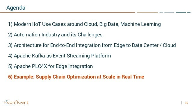 46 Agenda 1) Modern IIoT Use Cases around Cloud, Big Data, Machine Learning 2) Automation Industry and its Challenges 3) A...