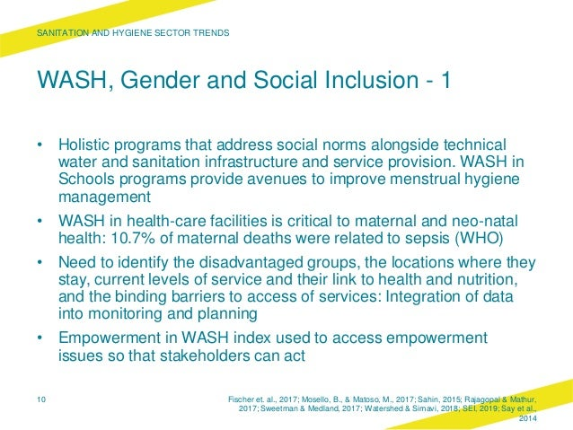 WASH, Gender and Social Inclusion - 1 • Holistic programs that address social norms alongside technical water and sanitati...