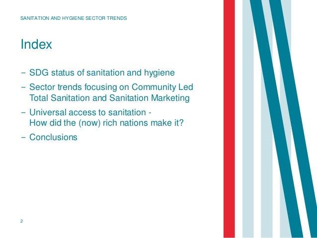 Index − SDG status of sanitation and hygiene − Sector trends focusing on Community Led Total Sanitation and Sanitation Mar...