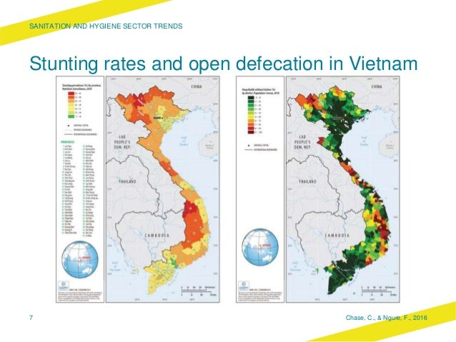 Stunting rates and open defecation in Vietnam SANITATION AND HYGIENE SECTOR TRENDS Chase, C., & Ngure, F., 20167